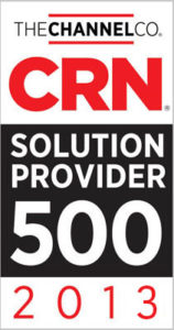 CRN Solution Provider 500 2013 Badge