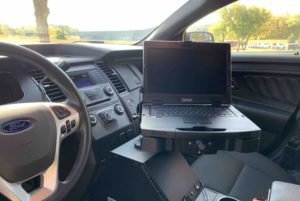Getac S410 with Gamber-Johnson Dock in a Ford Utility